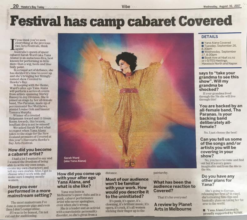 Camp cabaret covered at Arts Festival